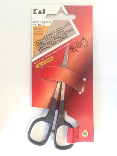 KAI embroidery scissor - 13cm - double curved
