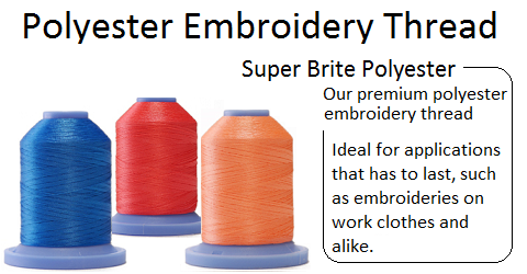 Super Brite Polyester embroidery thread
